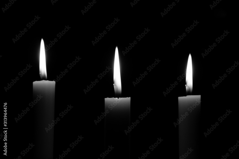 Fototapeta candles black and white