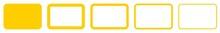 Rectangle Icon Yellow | Rounde...