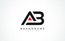A B Logo. AB Letter Logo Desig...