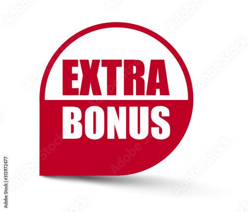 Fotografía red vector banner extra bonus
