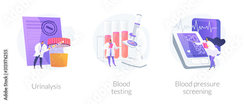 Fotomural Clinical laboratory analysis icons cartoon set