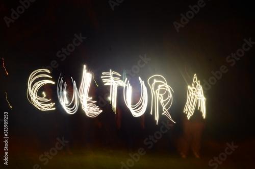 Fotografia light painting cultura