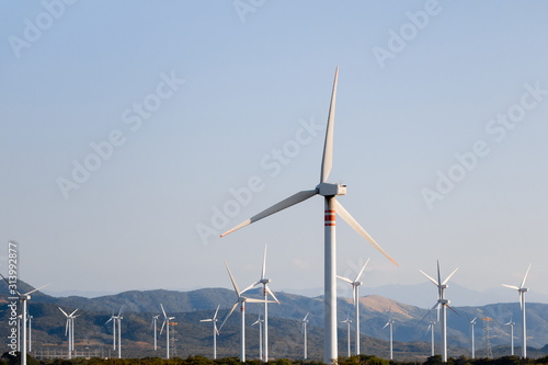Alternativa renovable de energía eólica en Oaxaca - México Canvas Print
