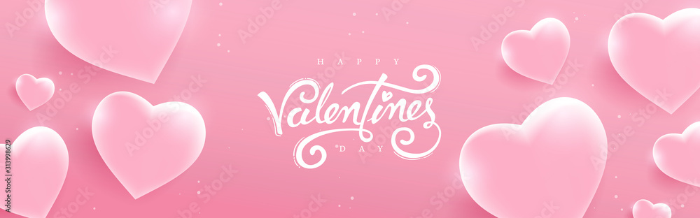 Fototapeta Valentines day background with Heart Shaped glass. Vector illustration.banners.Wallpaper.flyers, invitation, posters, brochure, voucher discount.