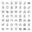 Leinwandbild Motiv 49 Icon Set Of real estate For Personal And Commercial Use...