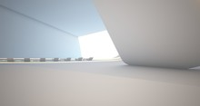 Abstract Architectural White S...