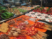 Seafood At Night Market In Tai...