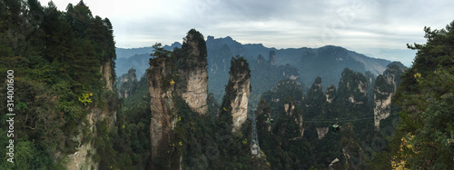Rock mountains at Zhangjiajie National Park Canvas Print