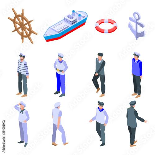 Foto Sailor icons set