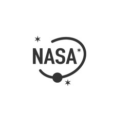 Nasa Vector Icon On White Back...