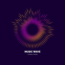 Sound Wave. Modern Vector Illu...