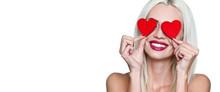 Valentine's Day. Happy Woman W...