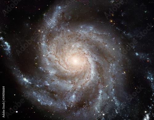 Obraz Pinwheel Galaxy. Space nebula. Cosmic cluster of stars. Outer space background - fototapety do salonu