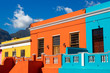 canvas print picture - Colored houses in Bo Kapp, a district of Cape Town, South Africa known for it's houses painted in vibrant colors