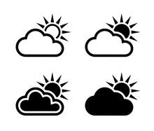 Chmura I Słońce Ikona
