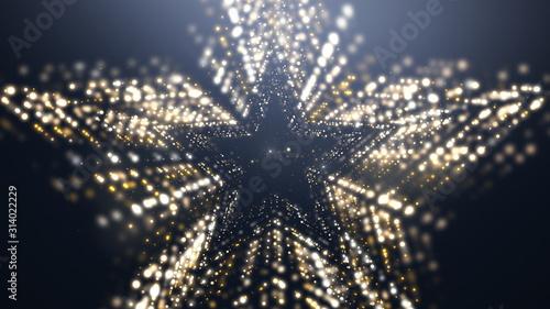 Fotomural  Gold Star Awards Luxury Background