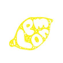 Lemon Typography Retro Silhoue...