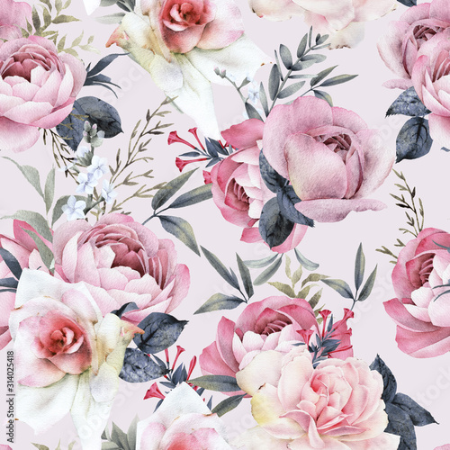 seamless-floral-pattern-with-flowers-on-light-background-watercolor-template-design-for-textiles-interior-clothes-wallpaper-botanical-art