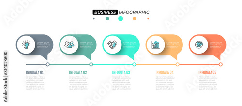 Fotomural  Business Infographics template