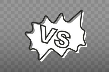 VS letters. Versus illustration. Vector in flat design