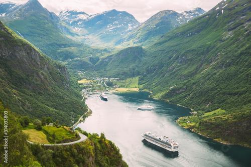 Fotomural  Geirangerfjord, Norway