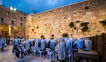 Jewish People At Morning Praye...