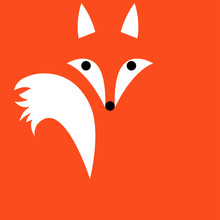 Cute Ginger Fox Cartoon Animal...