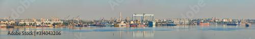 Fotografia Industrial areas of the shipbuilding yard.