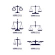 set of business finance law logo design vector