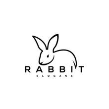 Rabbit Logo Design Vector Art