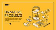 Financial Problems Isometric W...