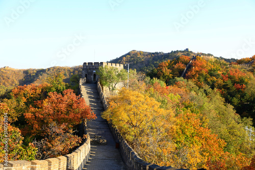 Photo The Great Wall in autumn