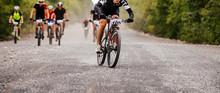 Cyclist Rider At Head Of Pelot...