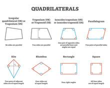 Quadrilaterals Vector Illustra...
