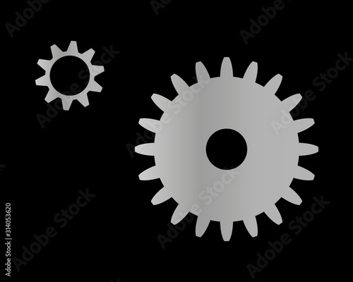 Gear setting icon vector illustration. Canvas Print