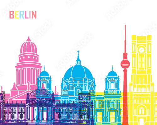 Photo Berlin  skyline pop