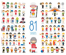 Set Of 81 Different Sports In ...