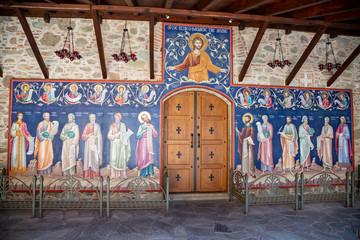 Interior of  Holy Monastery of Varlaam. The Monasteries of Meteora an UNESCO World Heritage in Kalambaka (Kalabaka), Greece.