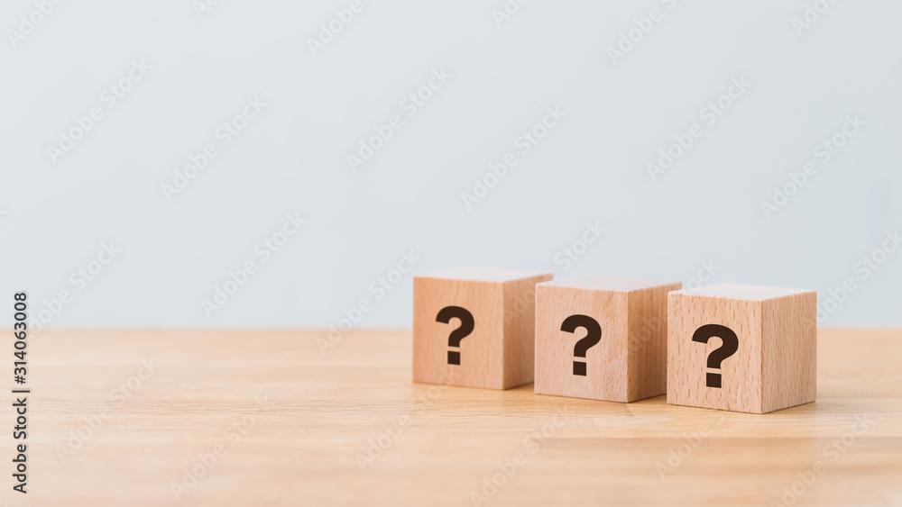 Fototapeta Question
