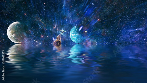 Fototapeta Beauty of galaxy , another world , stars in the universe