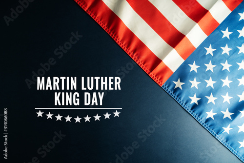 Martin Luther King Day Anniversary - American flag abstract background Wallpaper Mural