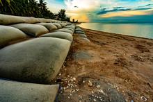 Sand Bags On Beach