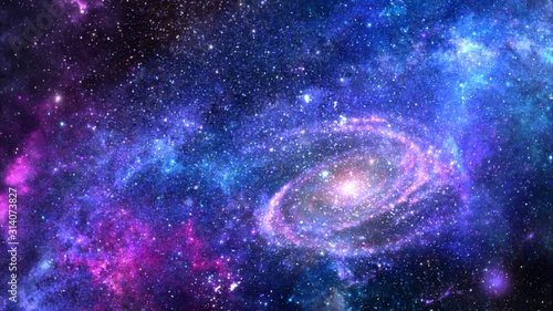 Fototapety, obrazy: Galaxy a system of millions or billions of stars, together with gas and dust, held together by gravitational attraction.