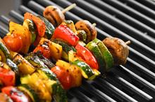 Barbecue Vegetable Skewers On ...