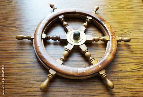 ship rudder as nice wooden object Wallpaper Mural
