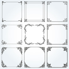 Frames And Borders Square Deco...
