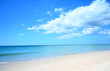 Blue sky and Sandy beach holiday In tropical countries summer
