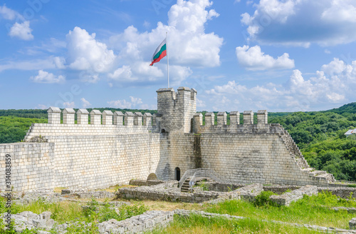 Partially restored walls and tower of Shumen Fortress, Bulgaria #314083859