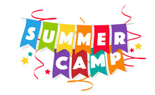 Summer Camp On Colorful Pennan...