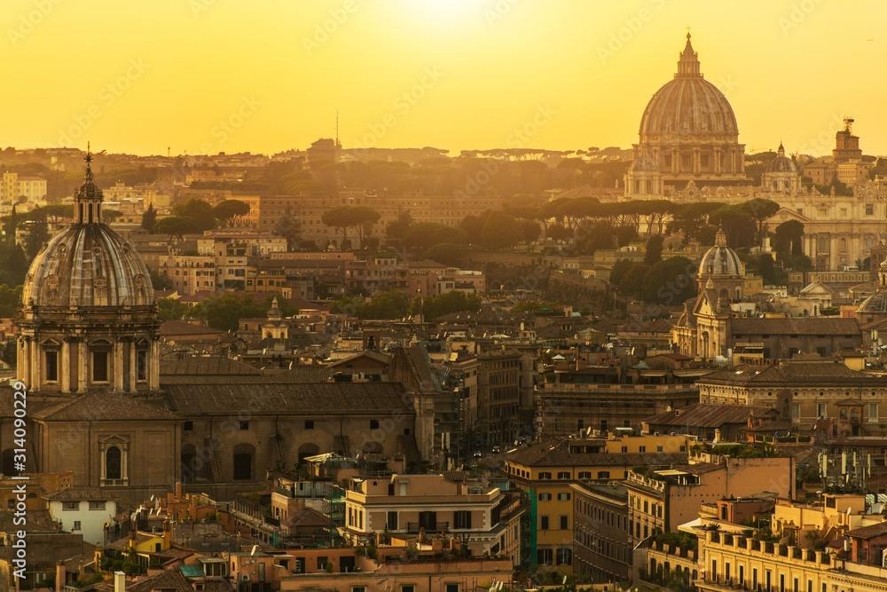 Obraz City of Rome and Vatican fototapeta, plakat